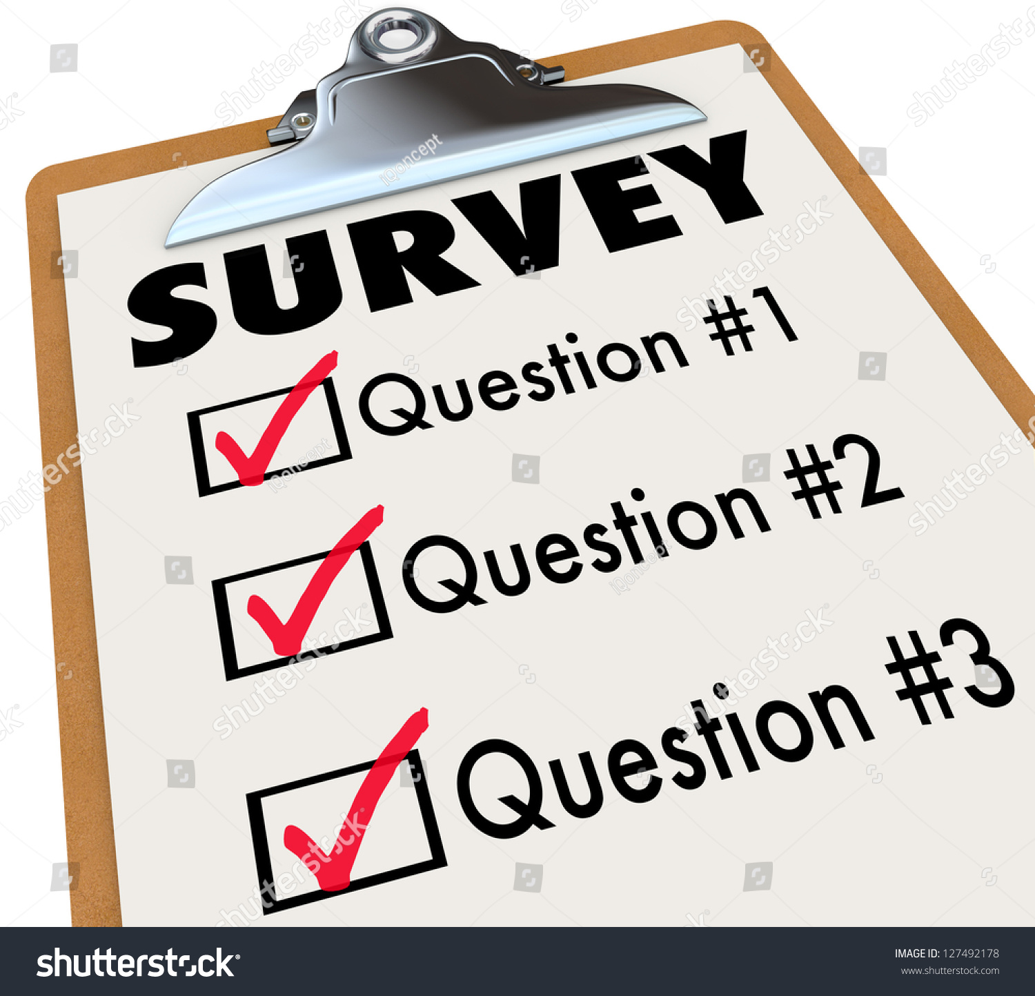 checklist on wooden clipboard word survey stock illustration a checklist on a wooden clipboard the word survey and a list of questions to