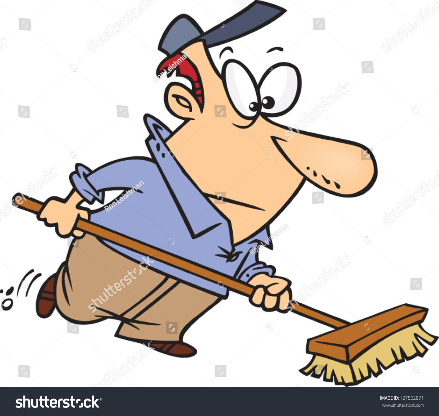 vector illustration cartoon janitor sweeping stock vector janitorial clip art images janitorial clipart mop bucket