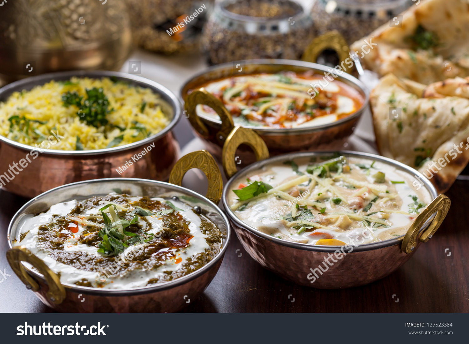 Indian food in brass bowl stock photo 127523384 shutterstock for All about indian cuisine