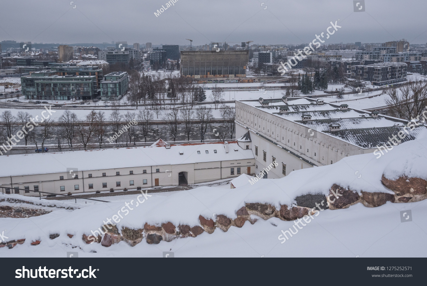 Winter View Lithuanian National Museum Museum Stock Photo Edit Now 1275252571