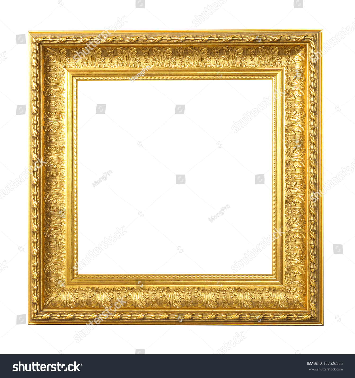 Photo Frames On White Background Vintage Stock Photo (Edit Now ...
