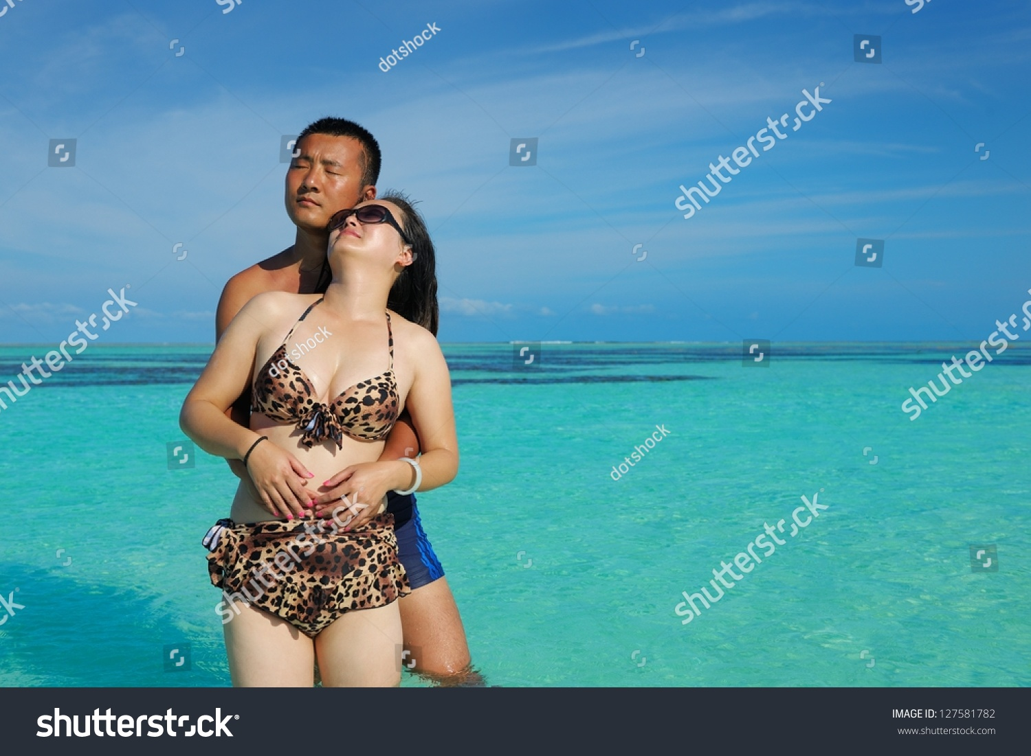 stock photo young couple dating asian enjoying conversation image