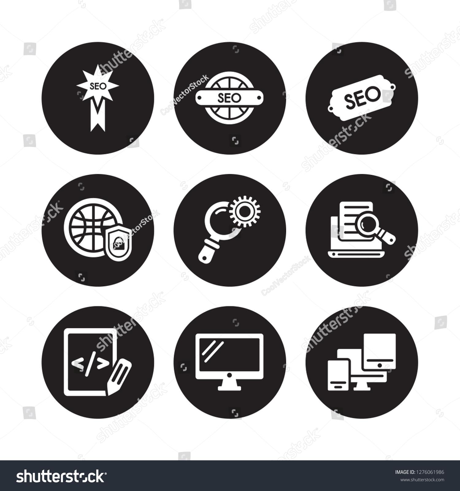 9 Vector Icon Set Seo Badge Stock Vector (Royalty Free