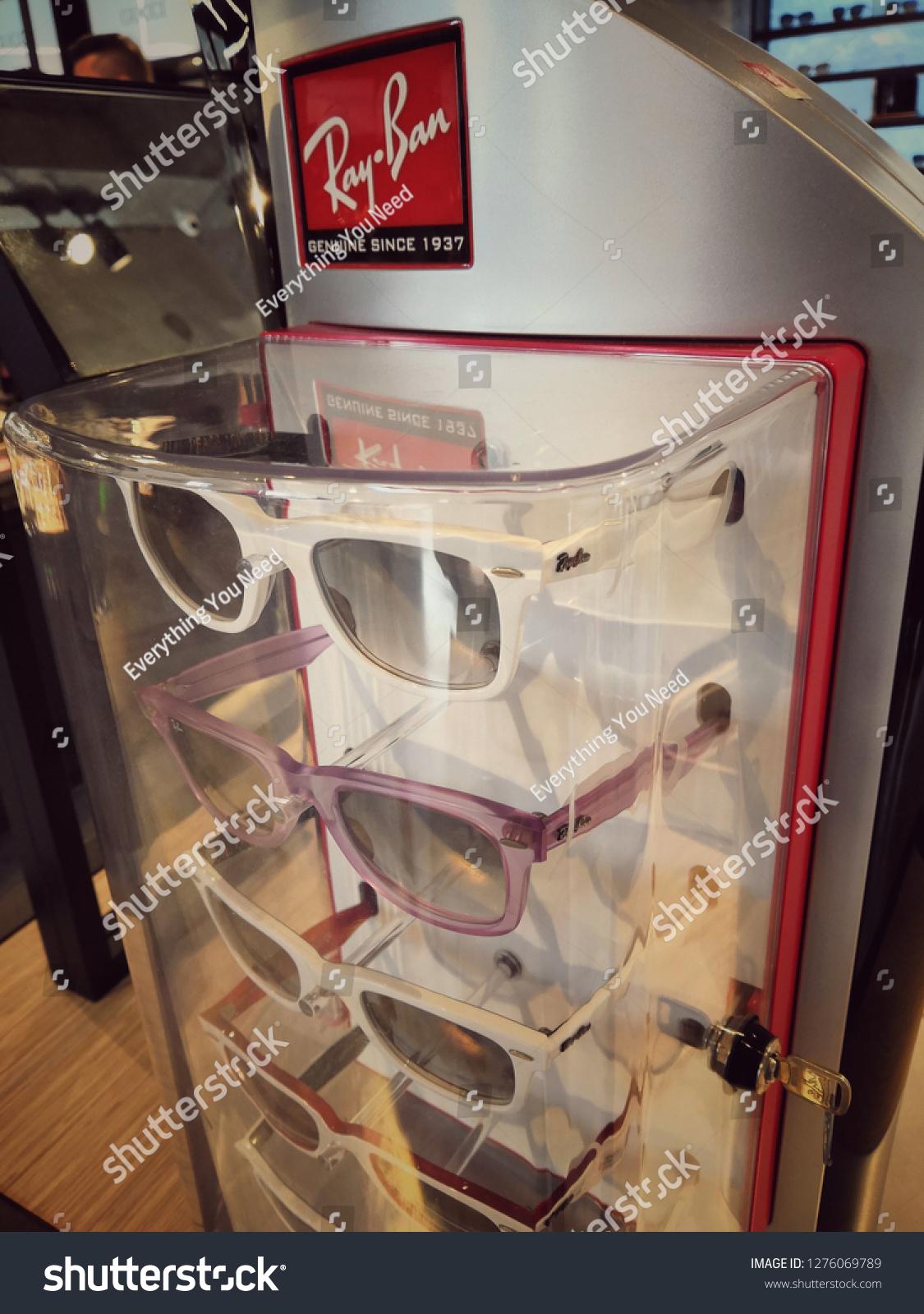Kuala Lumpurmalaysia January 2019 Rayban Sunglasses Stock