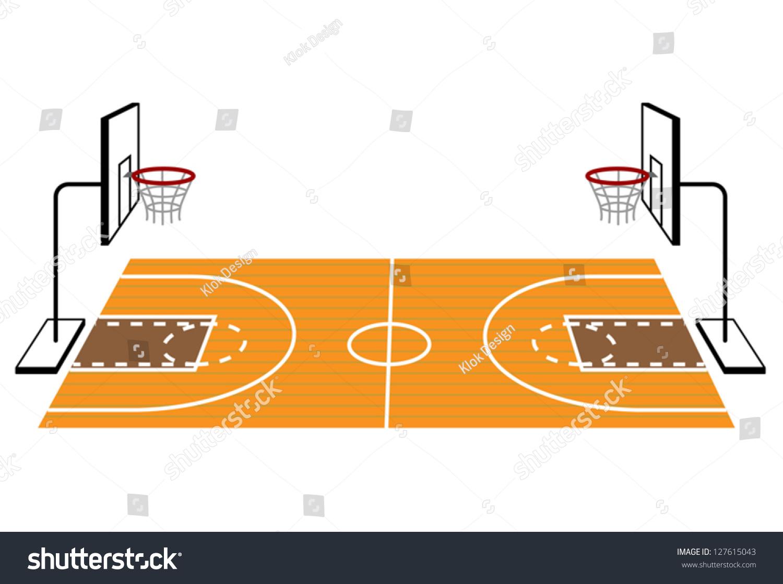 Basketball Arena Floor Plan Basketball Court Stock Vector 127615043 Shutterstock