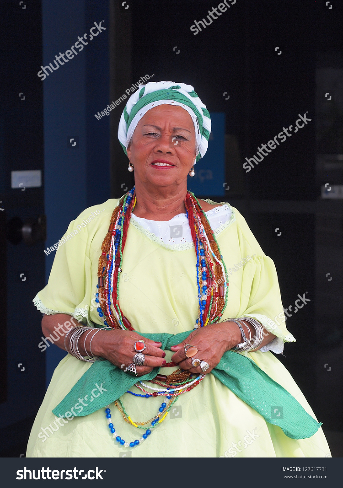 Salvador, Brazil - August 01: Brazilian Woman Dressed In ...