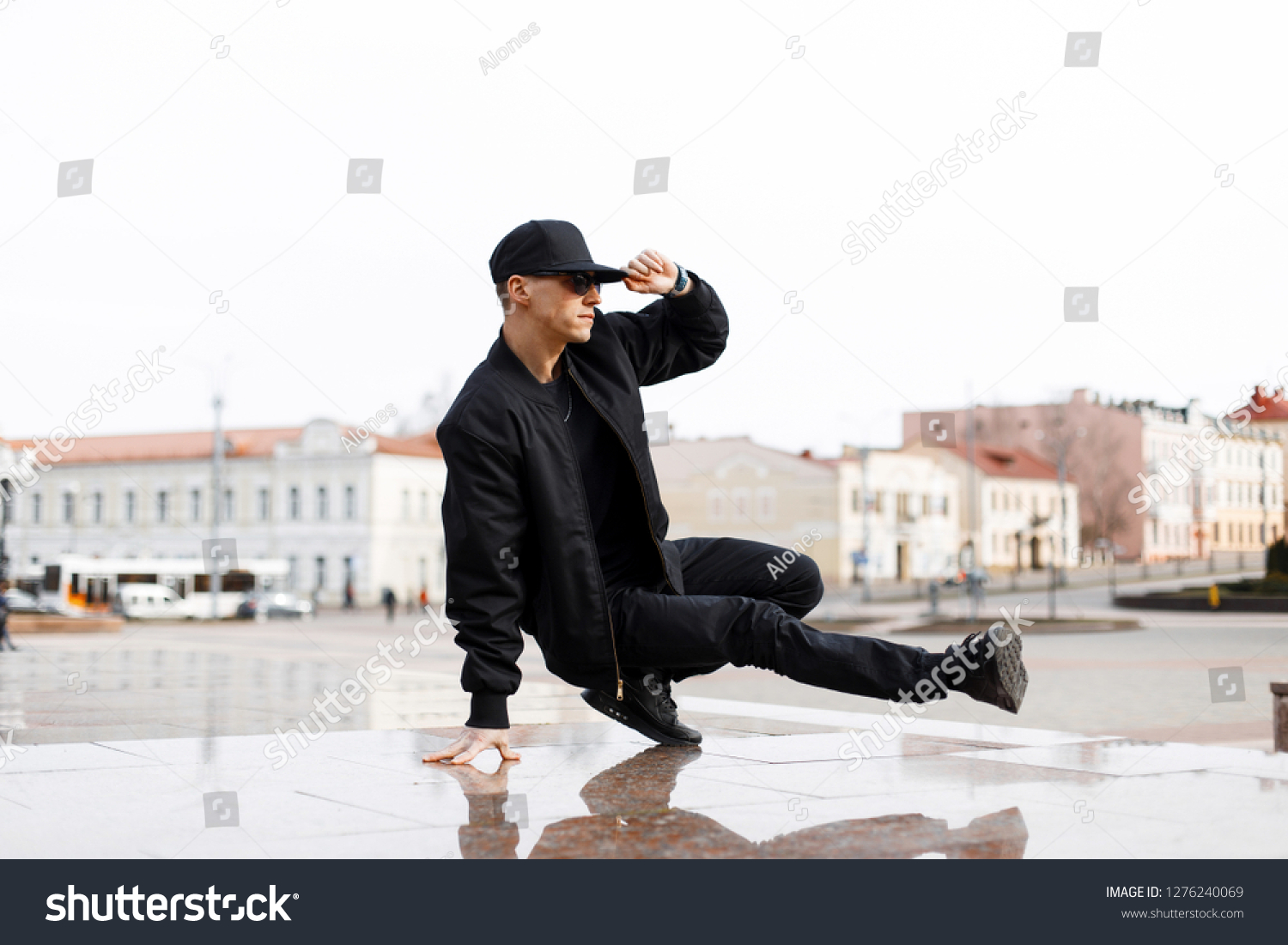 0a9ac21e9 Stylish Young Male Dancer Fashionable Black Stock Photo (Edit Now ...