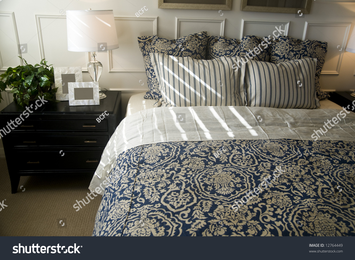 Beautiful bedroom interior design stock photo 12764449 for Beautiful bedroom interior