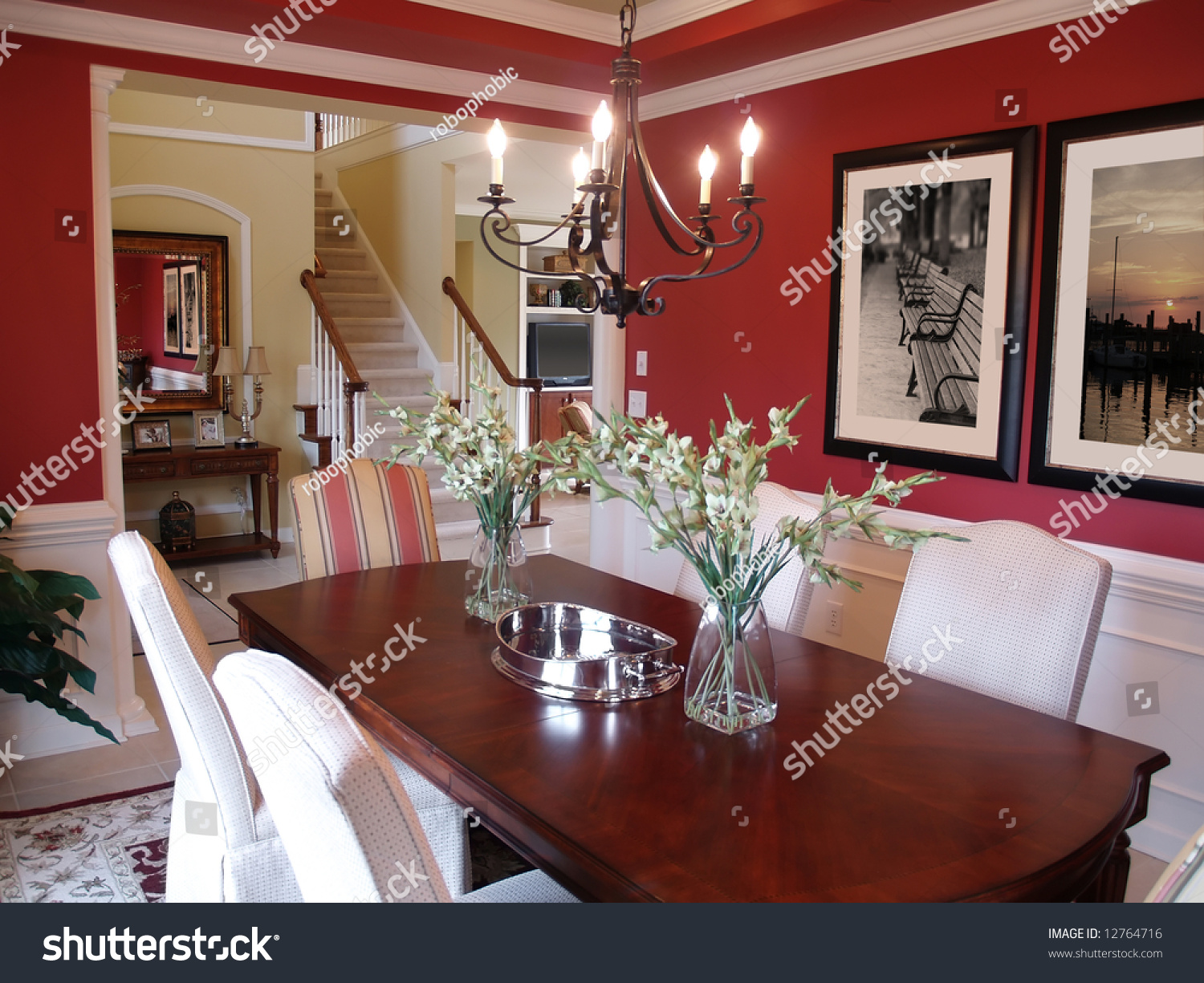 well decorated formal dining room in a luxury home stock very well decorated home for family houses for rent in
