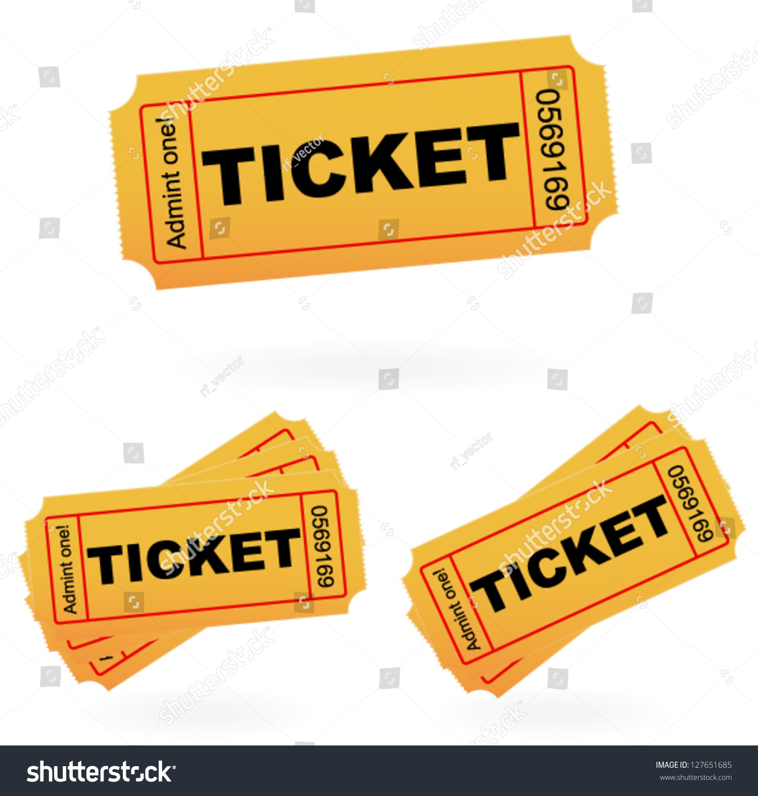 Admit One Style Tickets Vector Template Vector 127651685 – Admit One Template