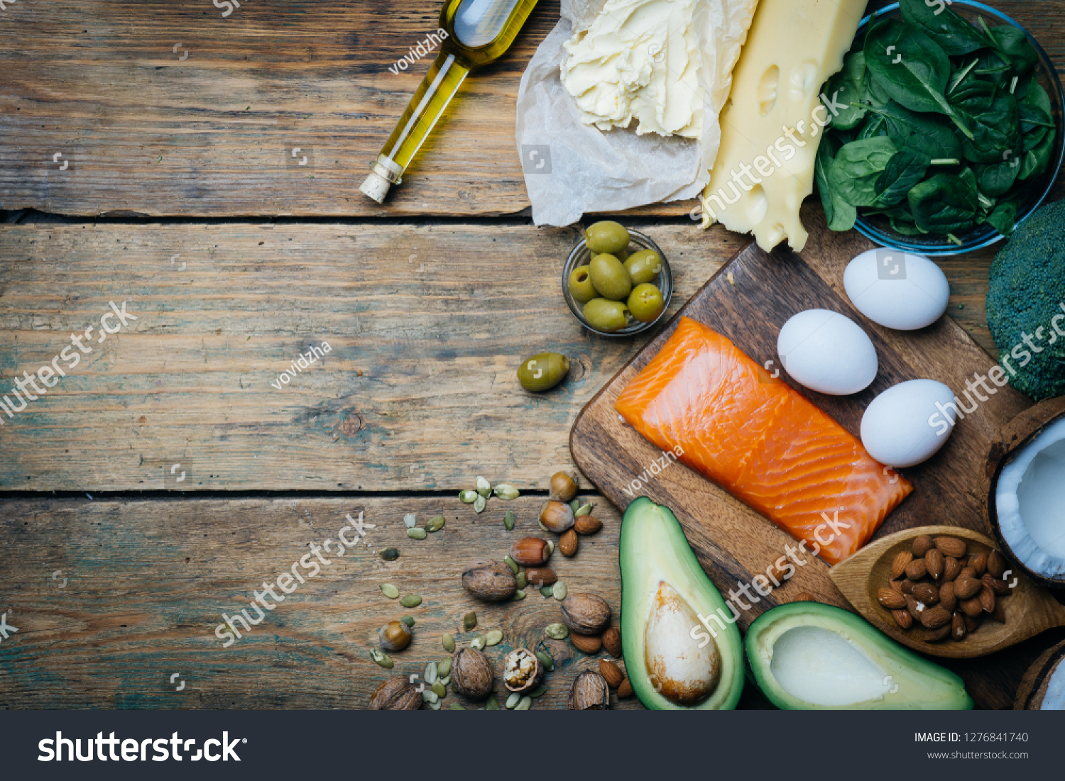 Ketogenic Diet Low Carbs Hight Fat Stock Photo Edit Now 1276841740