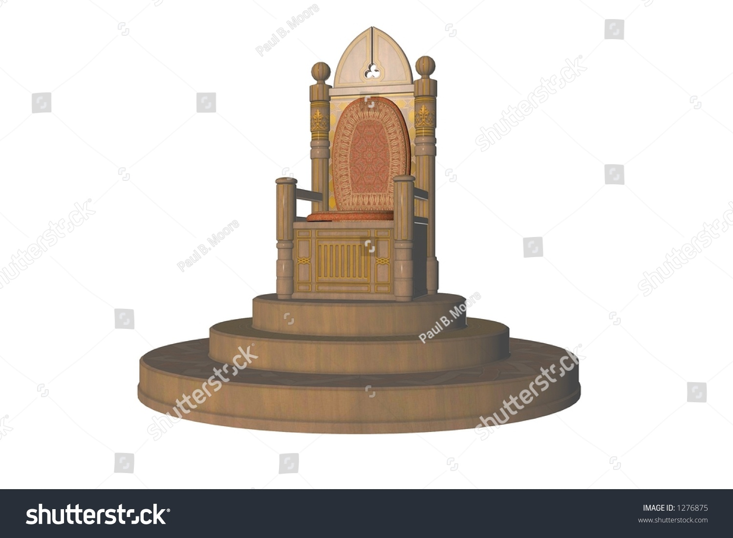 Isolated Throne On A Dais Stock Photo 1276875 Shutterstock