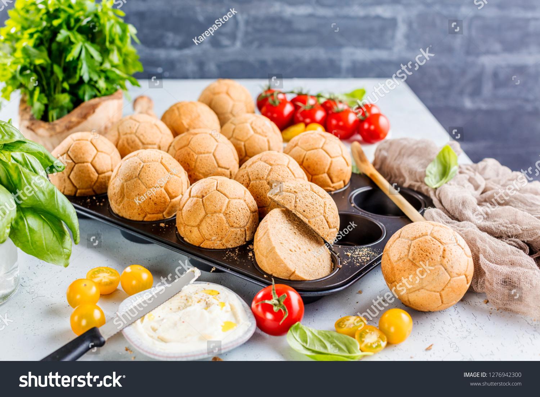 Breakfast German Garland Bread Form Ball Stock Photo Edit Now 1276942300