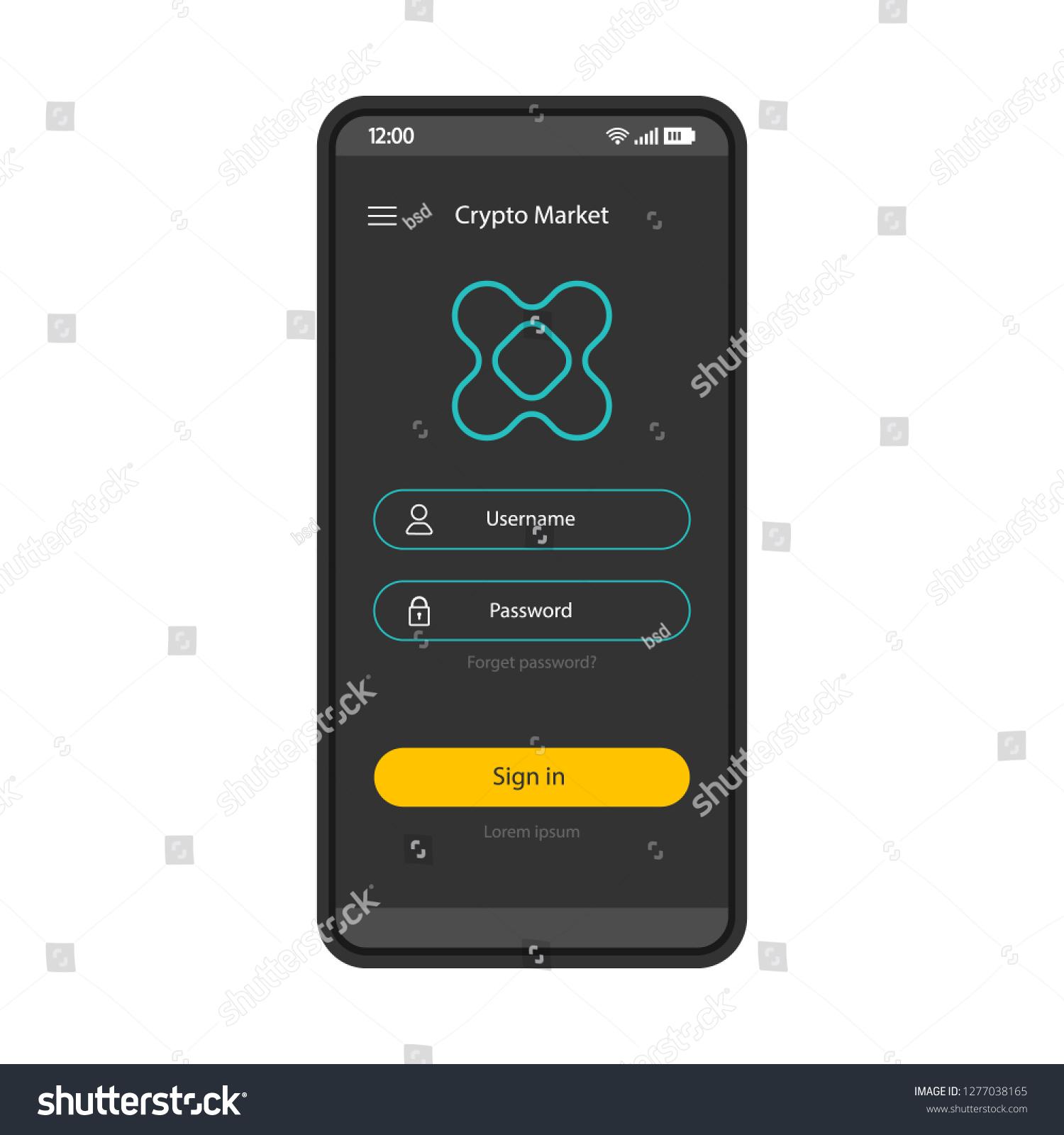 blockchain mobile login