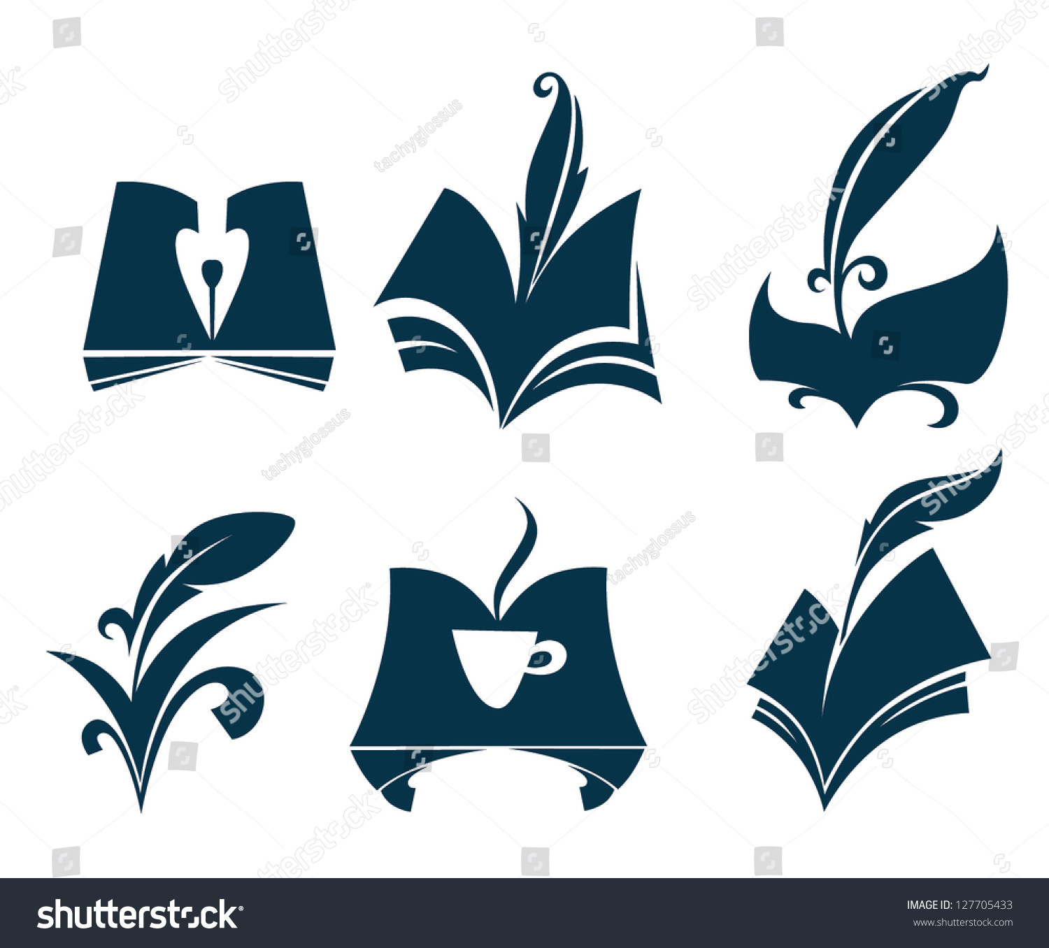 Poetry Book Cover Vector : Vector collection old books parchment poetry stock