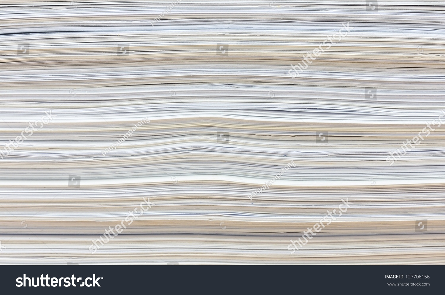 Side View Stack Papers Recycling Stock Photo 127706156 ...