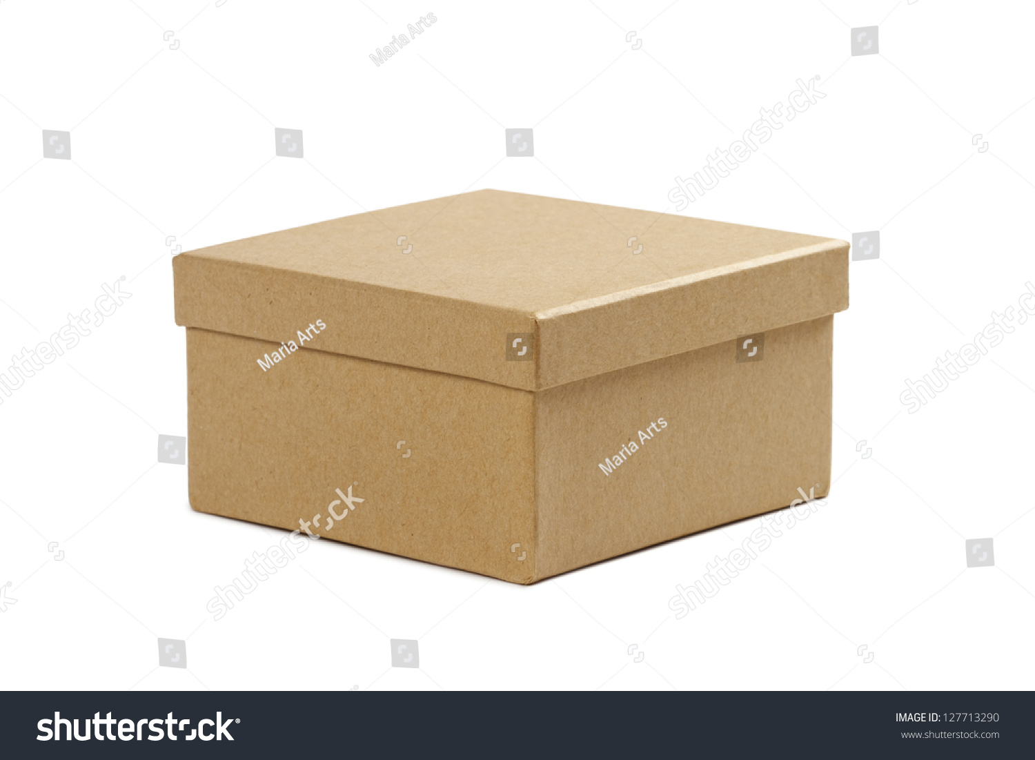 closed white cardboard box. closed cardboard box with lid on white background