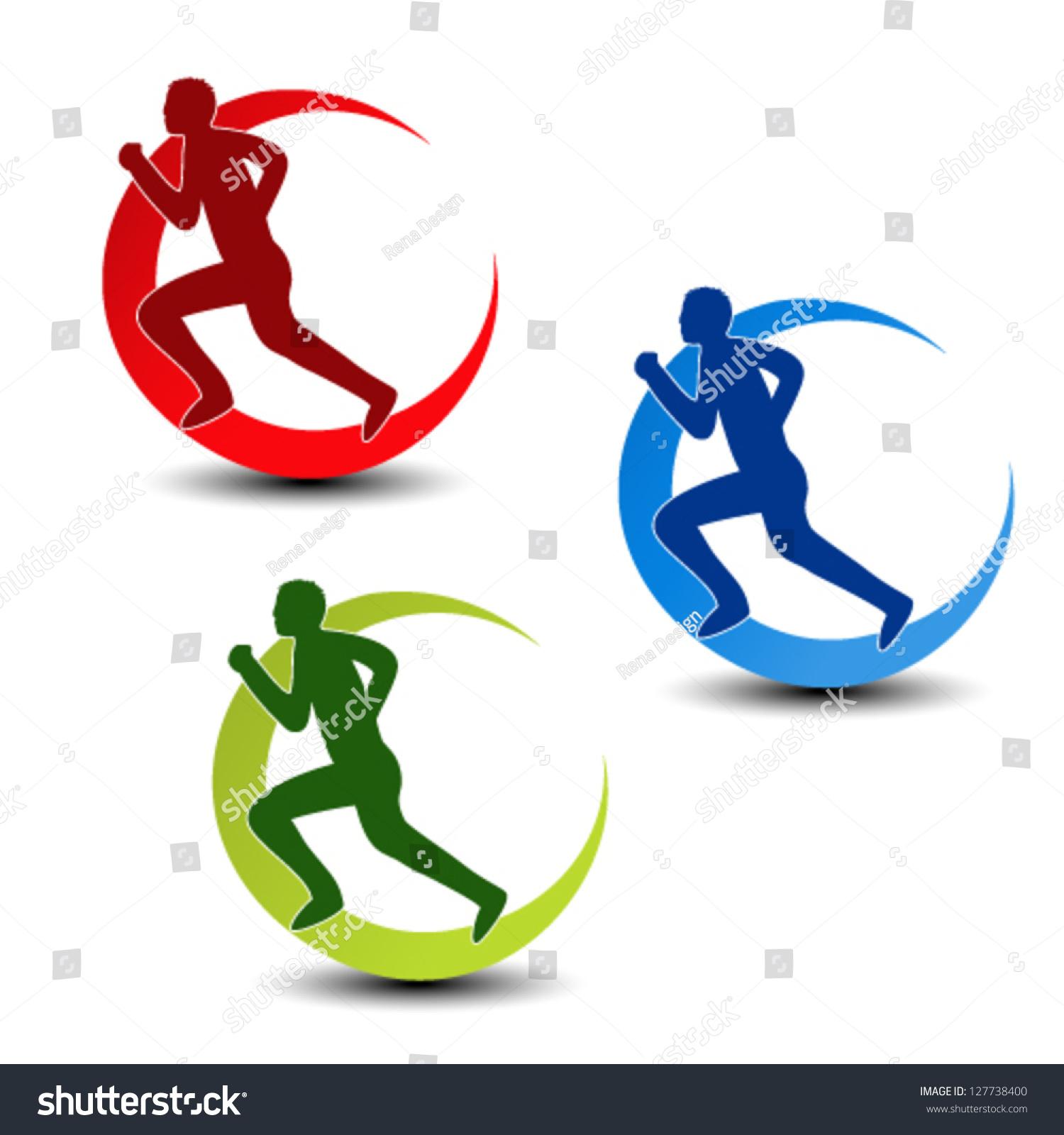 Royalty free vector circular symbol of fitness 127738400 stock vector circular symbol of fitness runner silhouette sport symbol icon 127738400 biocorpaavc
