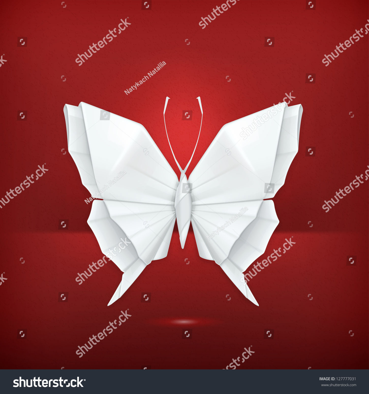 Origami Butterfly, Vector - 127777031 : Shutterstock - photo#19