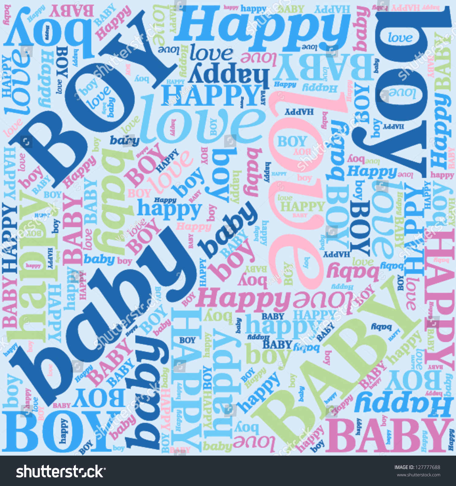 Seamless Background Newborn Baby Boy Pattern Stock Vector