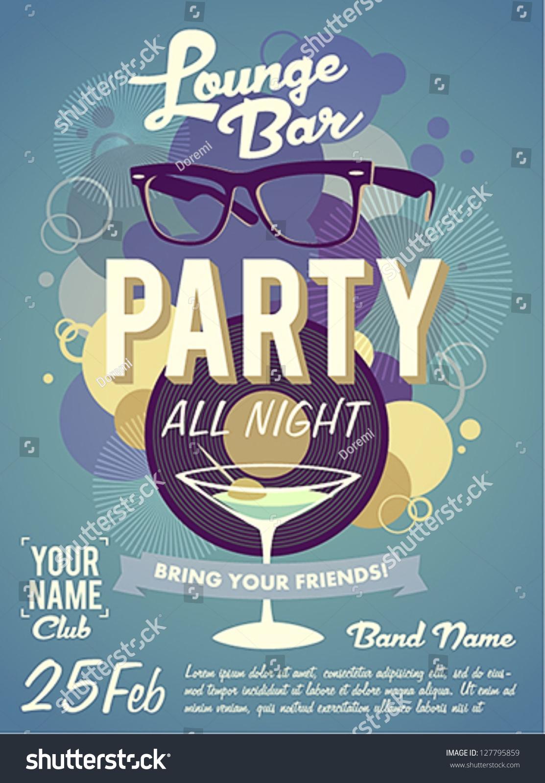 Lounge Bar Party Poste...