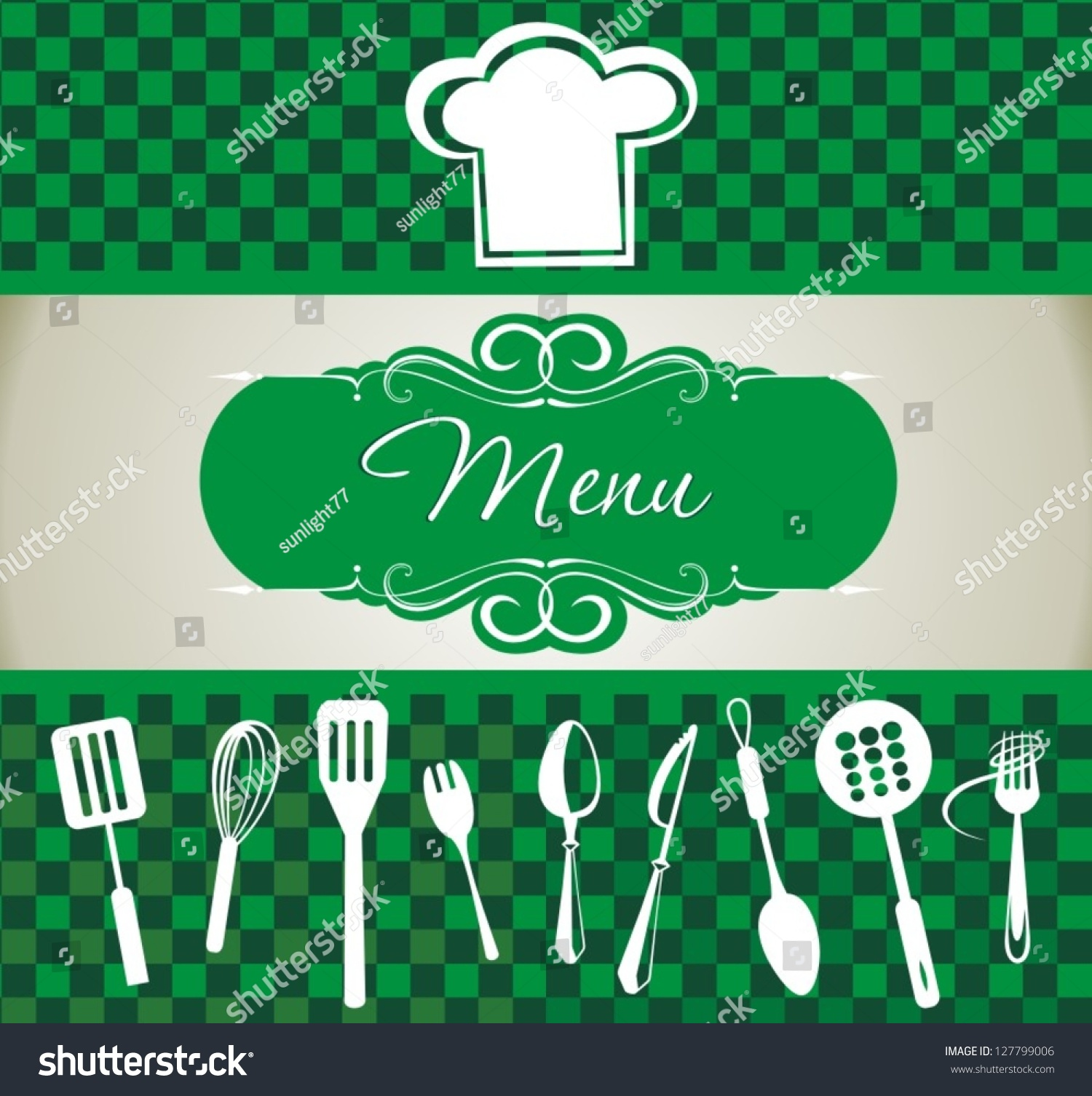 Restaurant menu design background stock vector