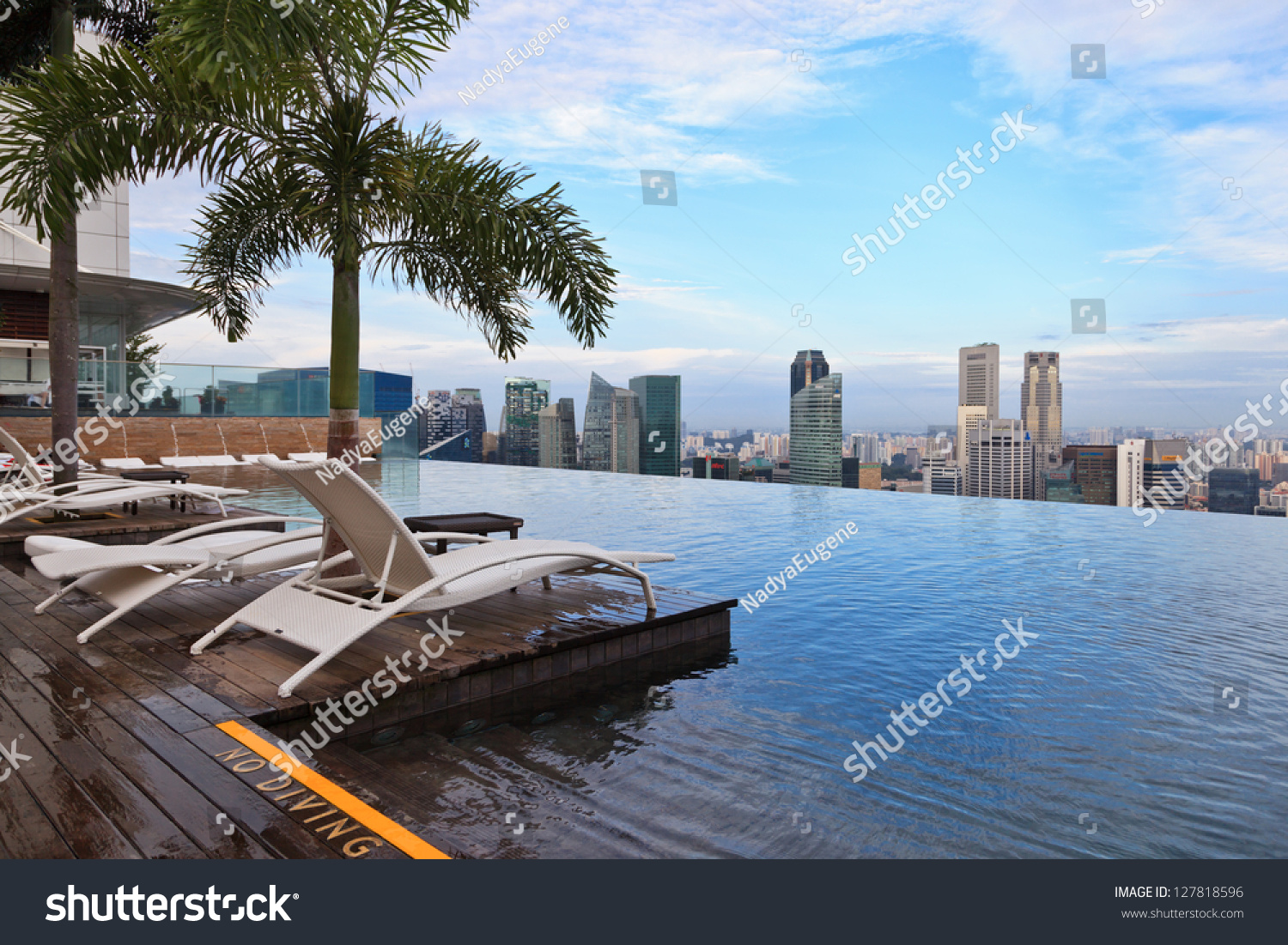 Singapore January 5 Infinity Swimming Pool Of The Marina Bay Sands On January 5 2013 In