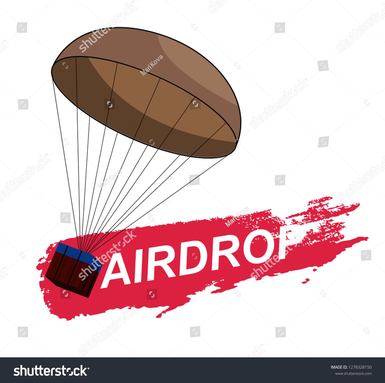 Air Drop Pubg Game Battlegrounds Vector Stock Vector Royalty Free