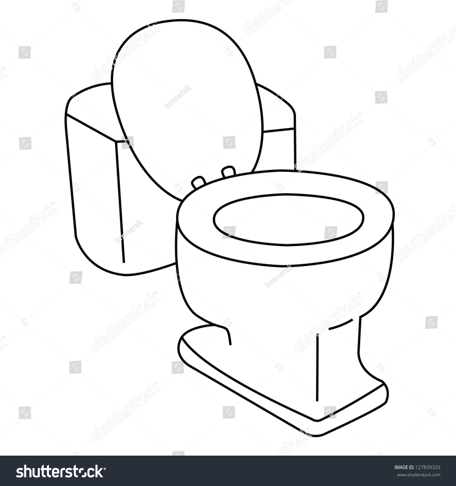 toilet outline