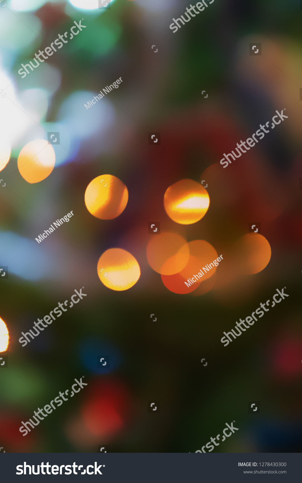 small circles lights like background from christmas tree