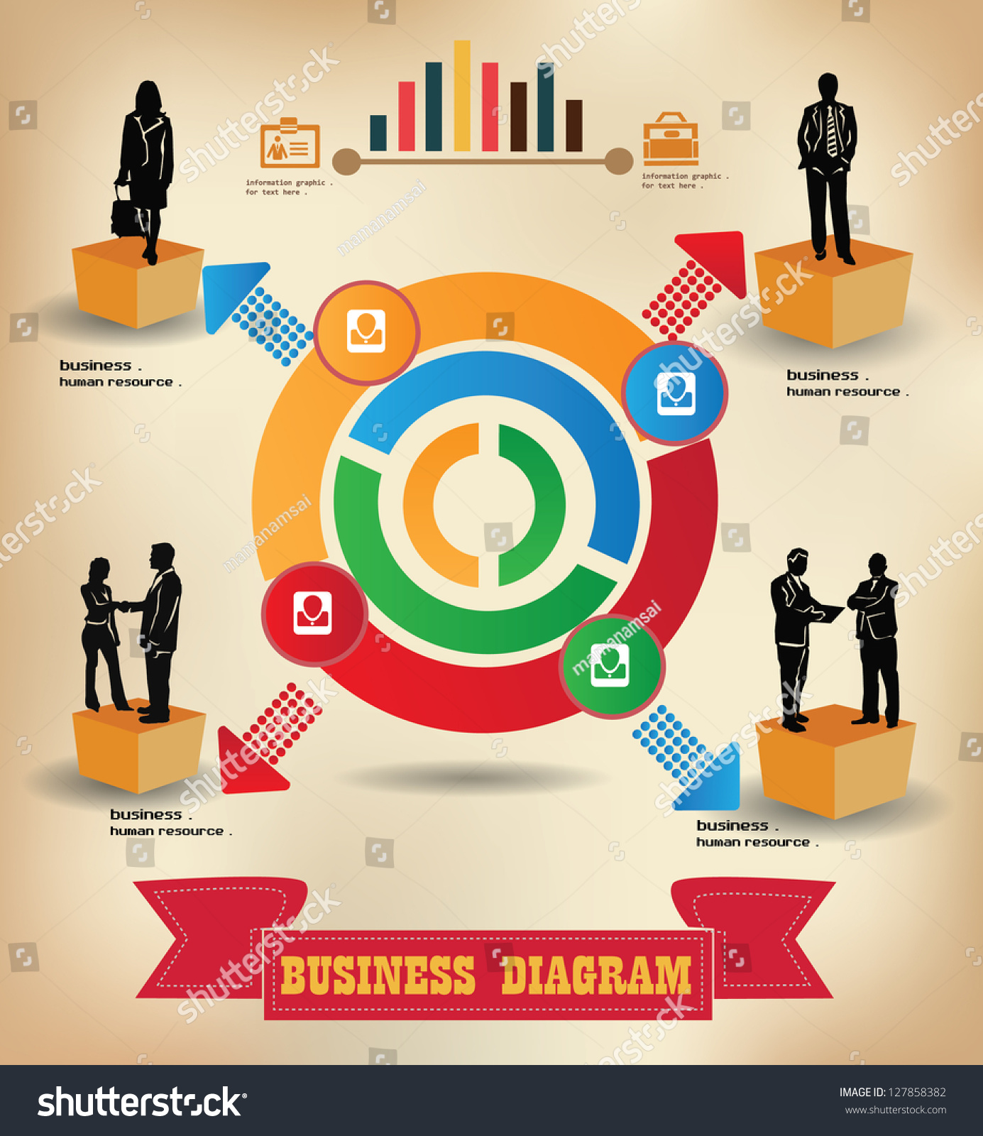 diagram charts business concept human resource vector       save to a lightbox