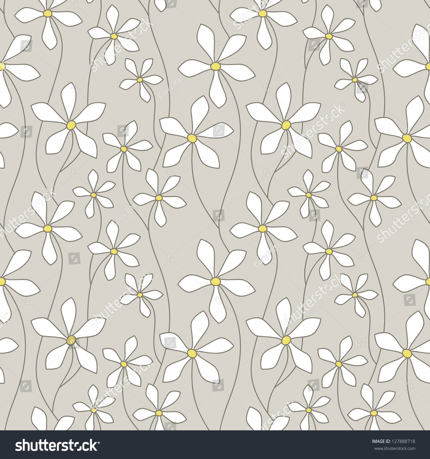 Aninimal Book: Seamless Pattern. Floral Stylish Background. Vector ...