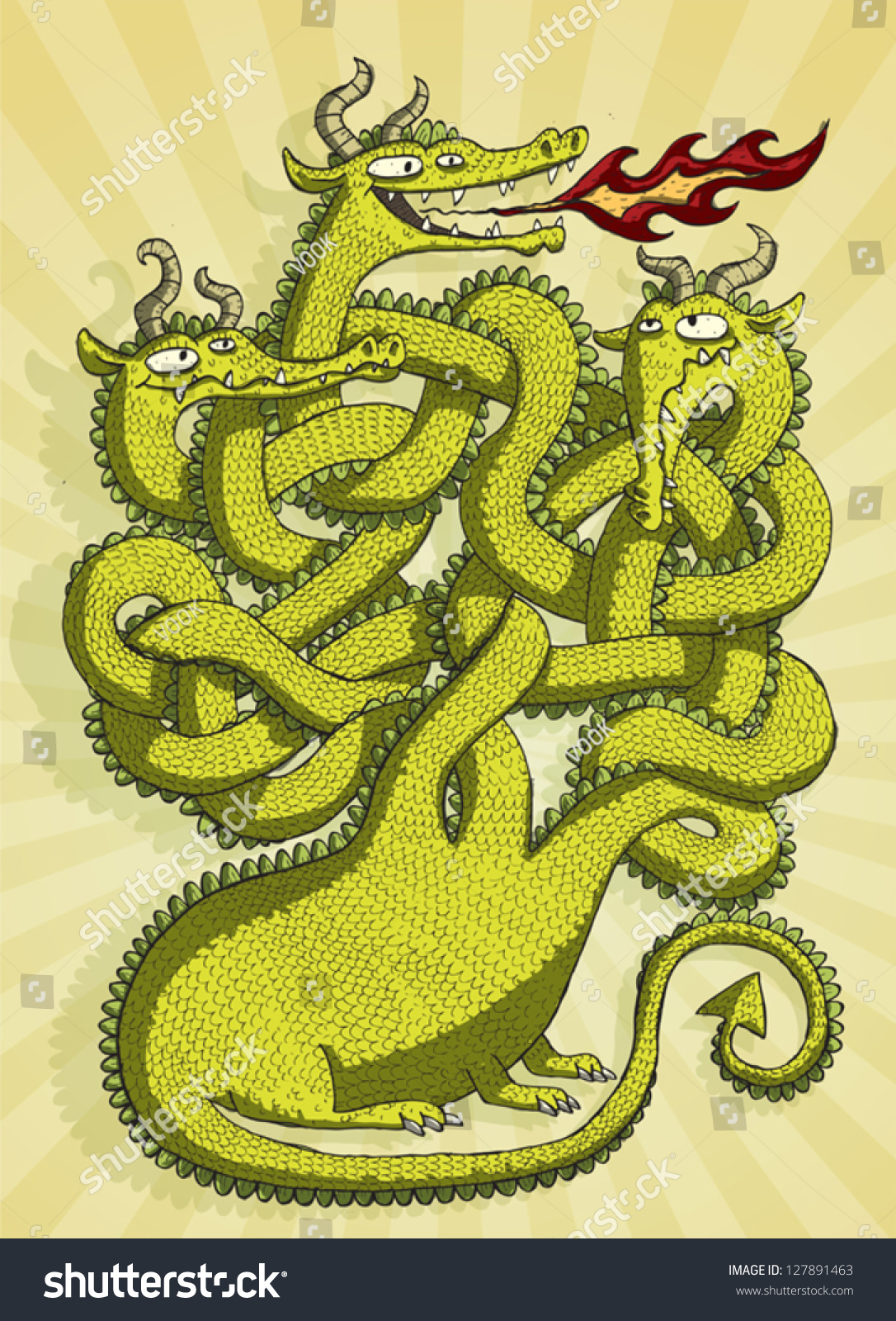 cute dragon maze game children task stock vector 127891463