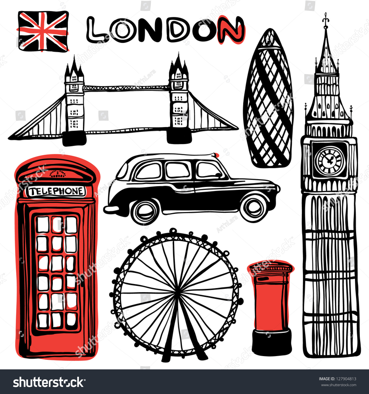 Country Music City Stock Photos Country Music City Stock: London Illustration Stock Vector 127904813