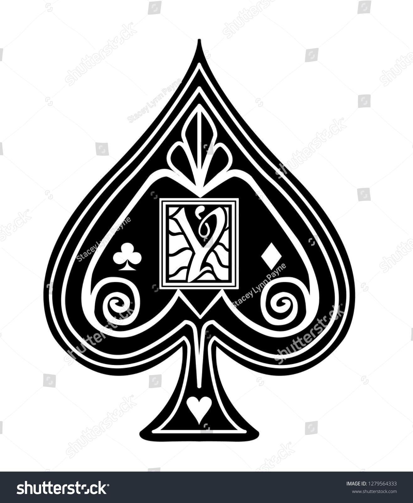 fancy spade card symbol  Fancy Black Spade Card Suit Y | Signs/Symbols Stock Image