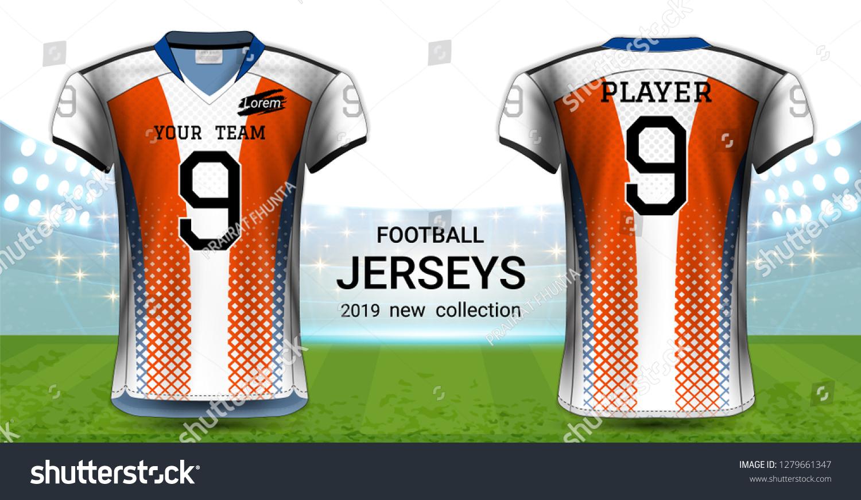 adc010eda76 American Football Soccer Jerseys Uniforms T Shirt Stock Vector ...