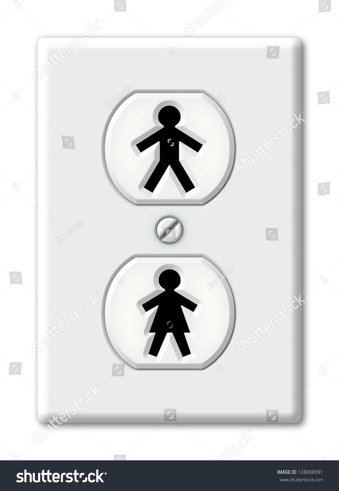 Illustration electrical outlet symbols male female stock illustration of an electrical outlet with symbols for male and female biocorpaavc Choice Image