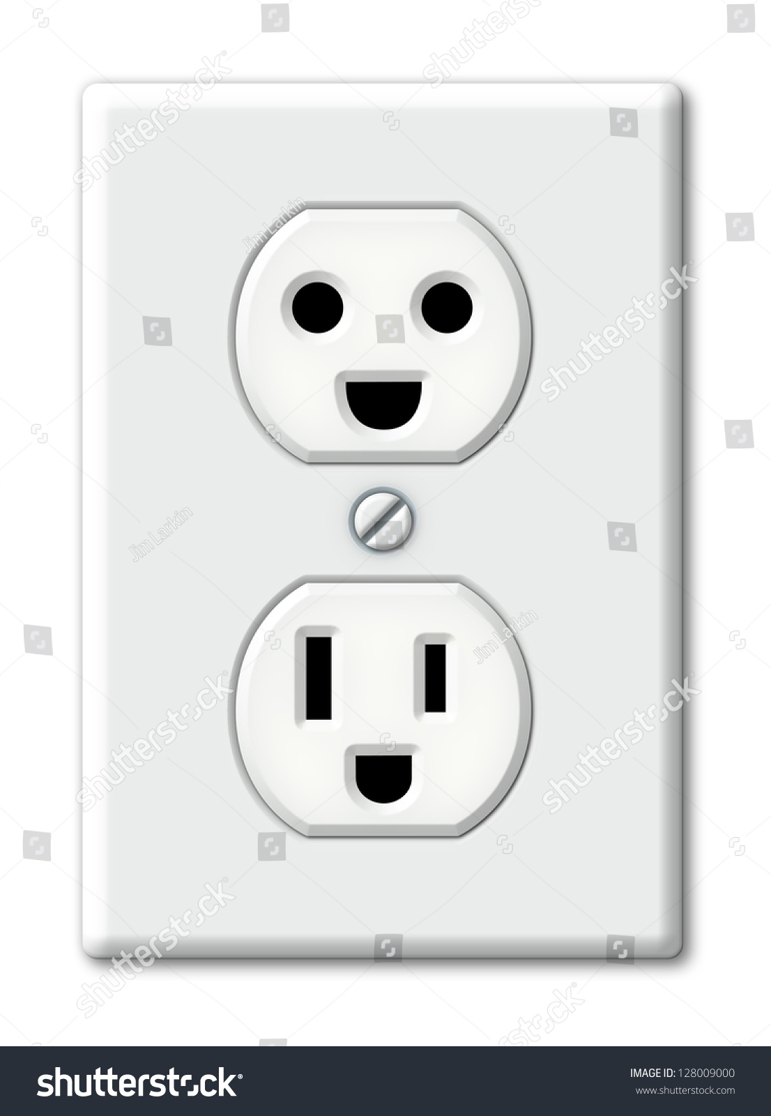Illustration Electrical Outlet Happy Faces Stock Illustration ...