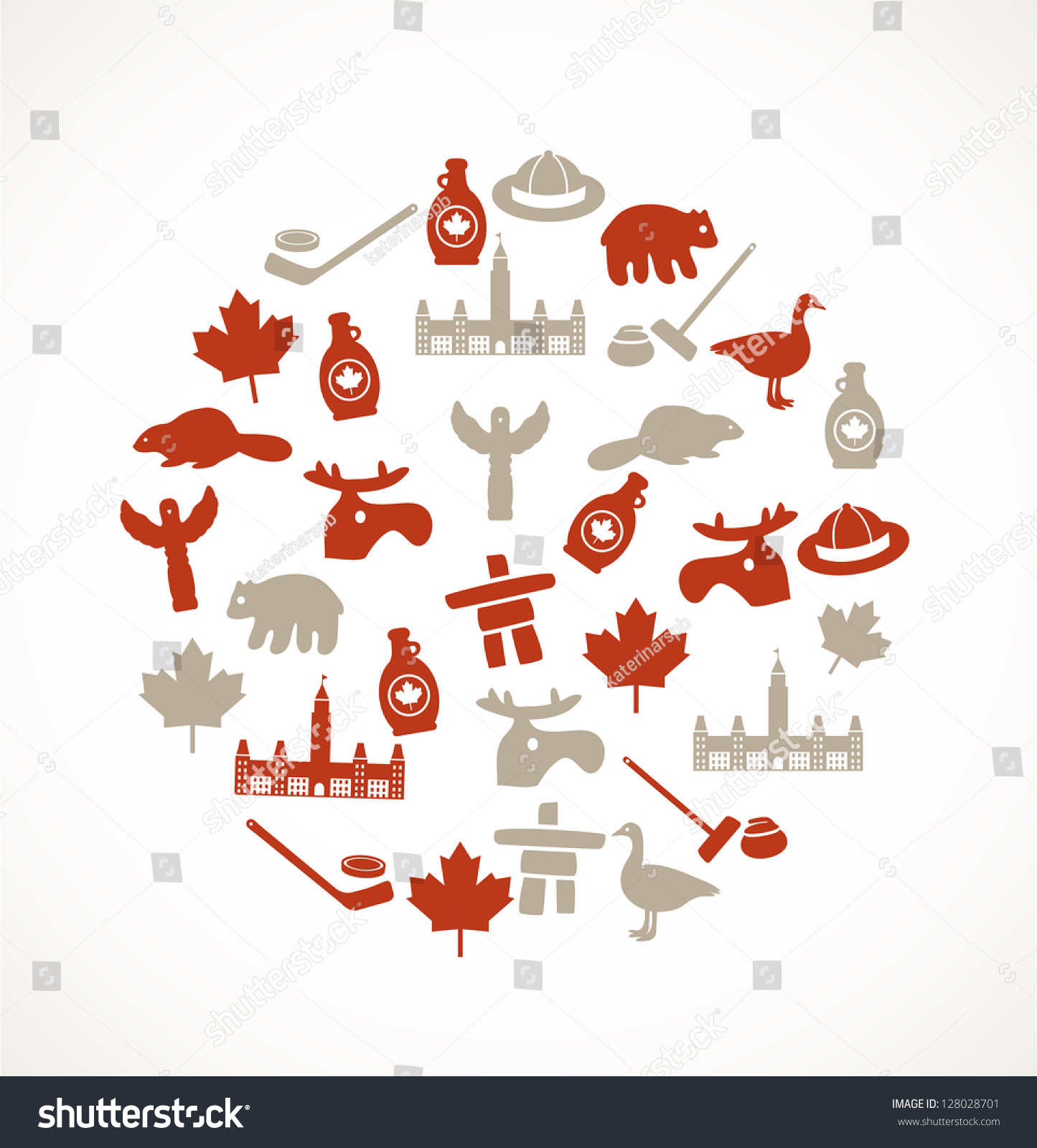 Canada Symbols Stock Vector 128028701 - Shutterstock