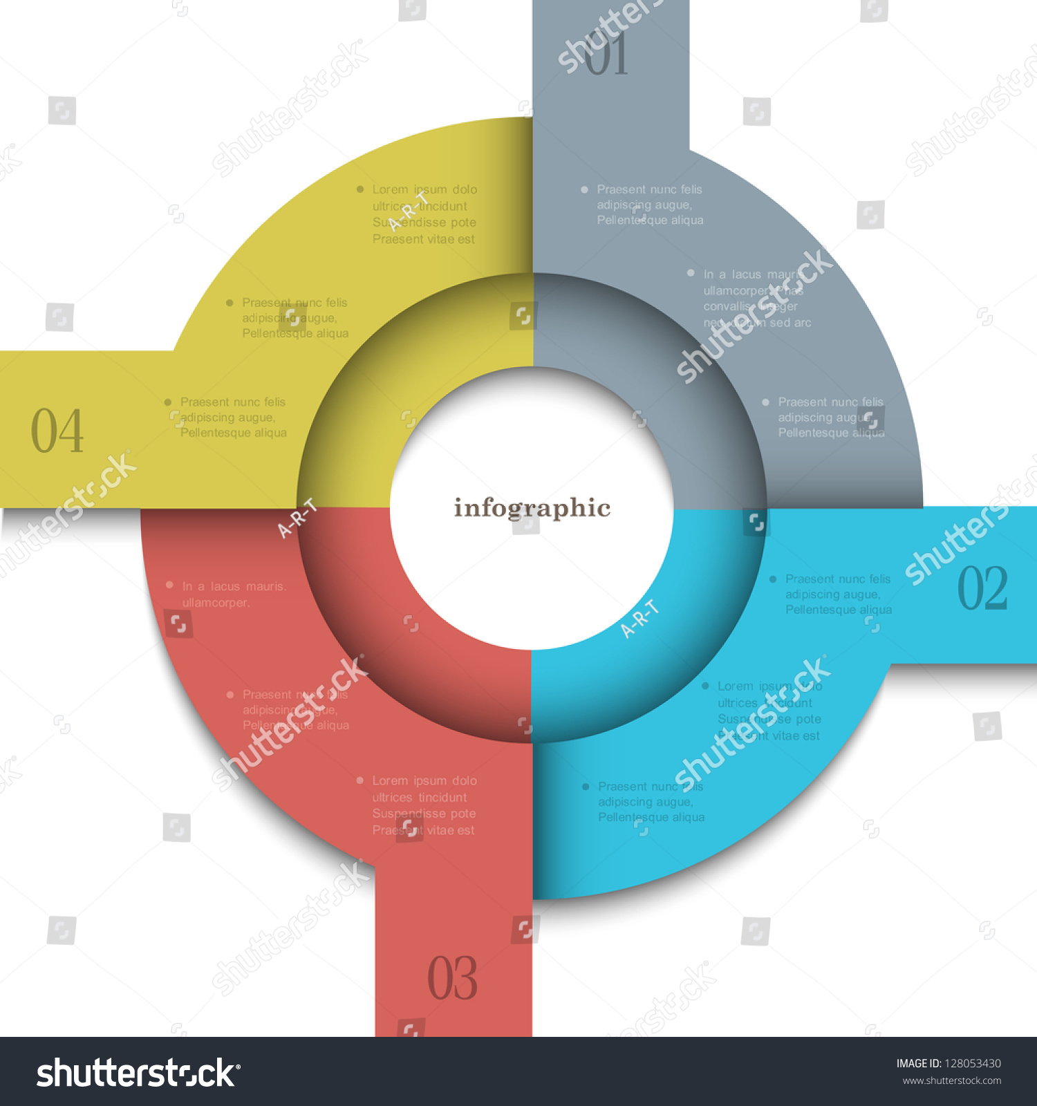 Round Trendy Design Template For Infographics And Website ...