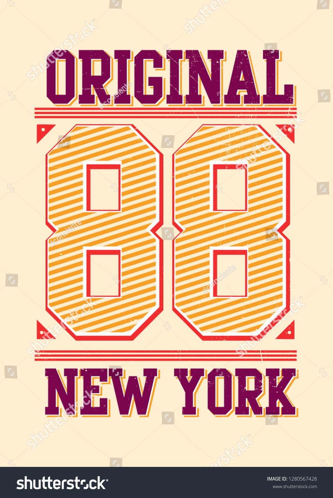 0f700f37 Varsity New York Urban Kids Apparel Stock Vector (Royalty Free ...