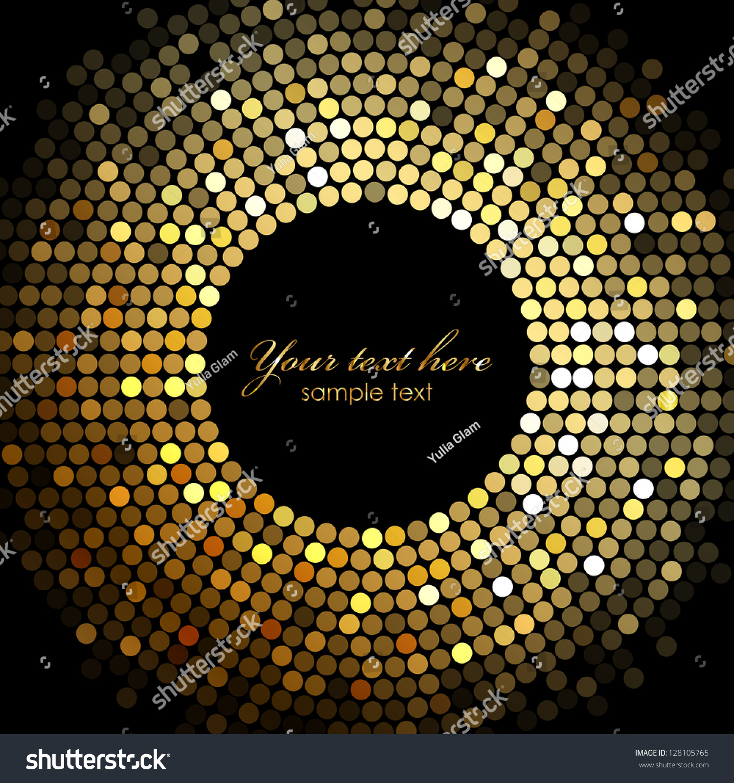 gold party vector - photo #8