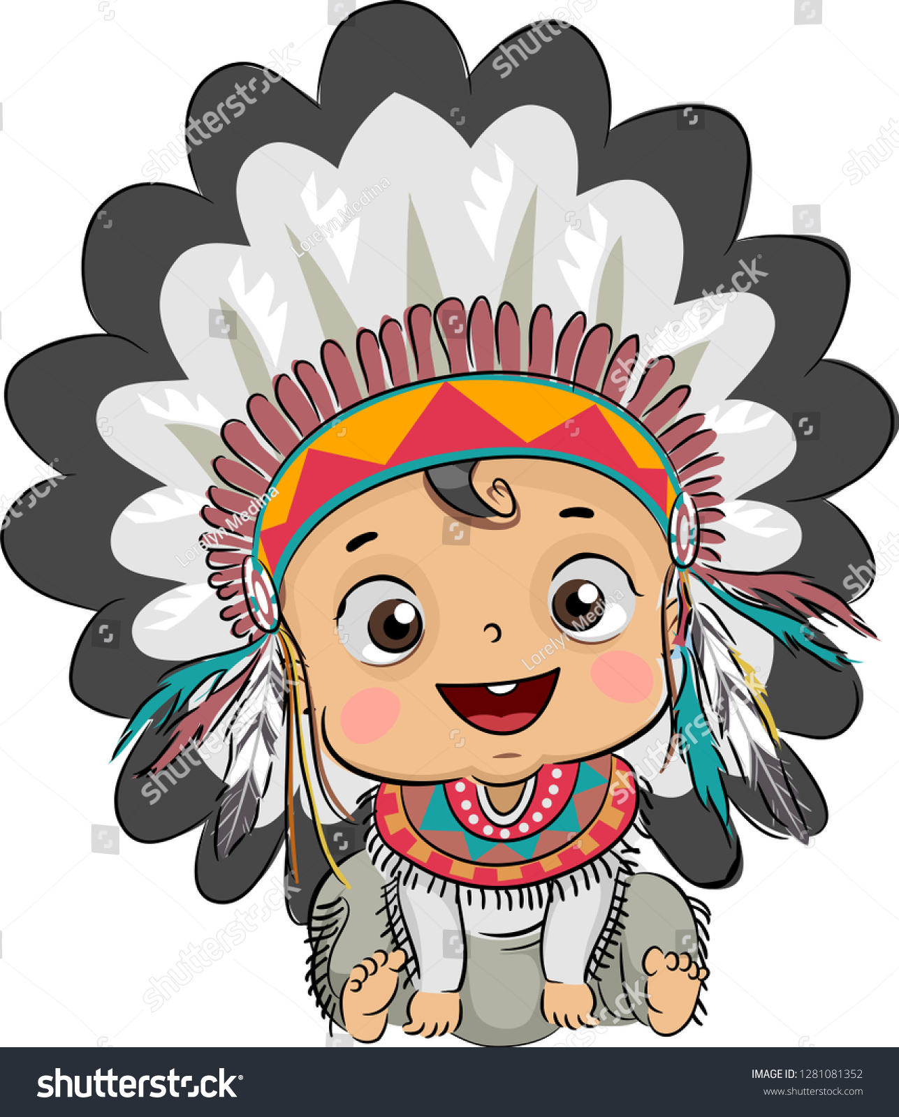 Native American Clipart Transparent Background - Indian Headdress Clipart |  Transparent PNG Download #5340522 - Vippng