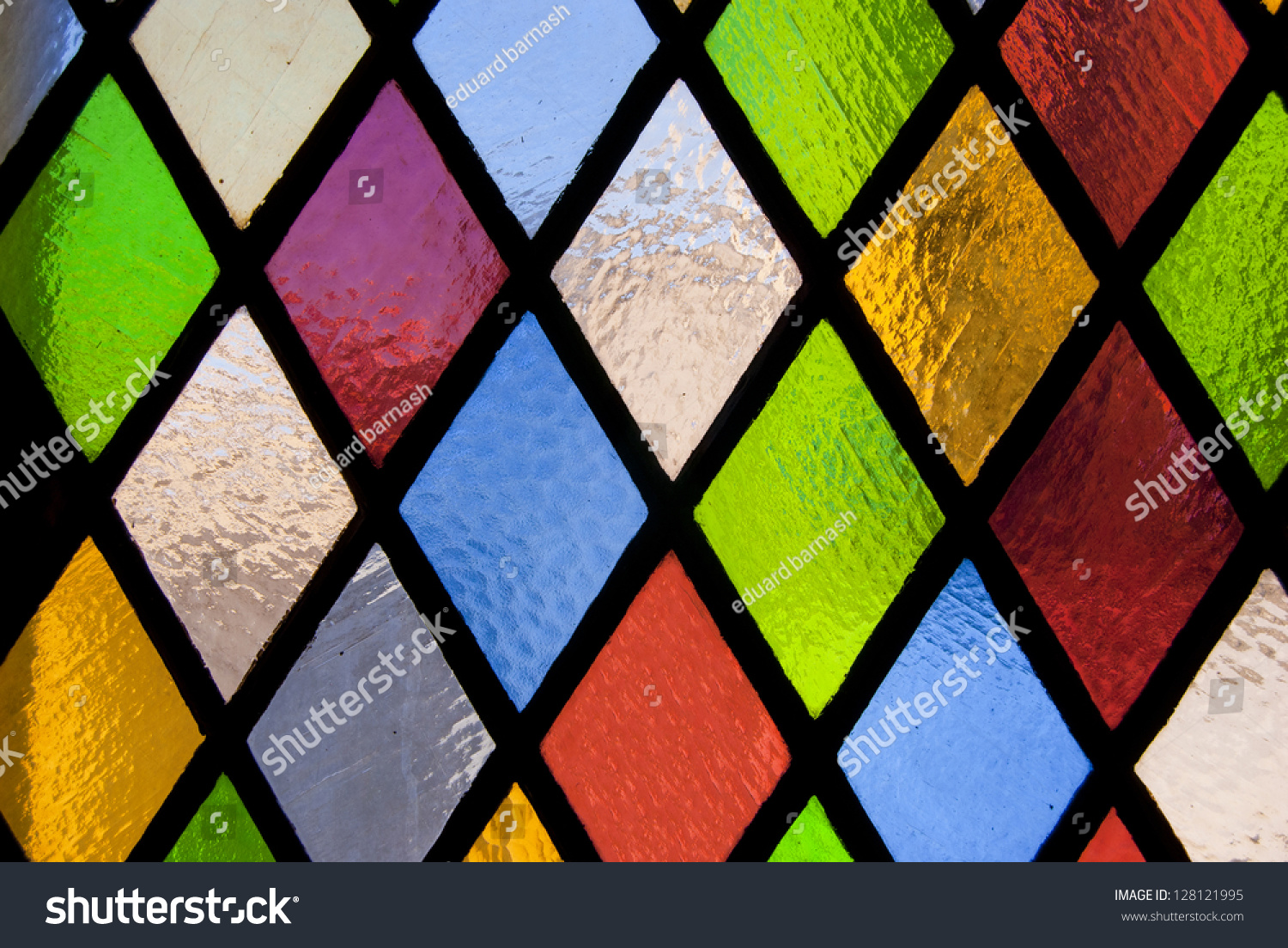 Stained Glass Window Colored Glass Stock Photo 128121995