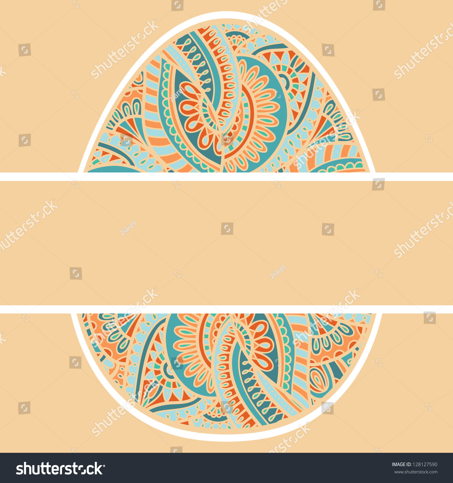 Beautiful Vector Egg Form Frame Border Easter Card Cover