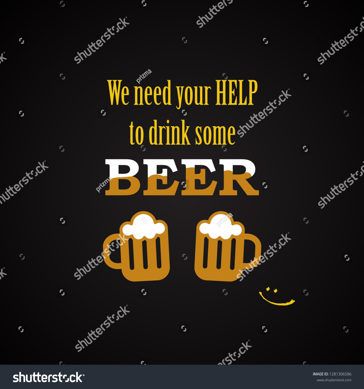 Beer Quotes We Need Your Help Stock Vector (Royalty Free ...