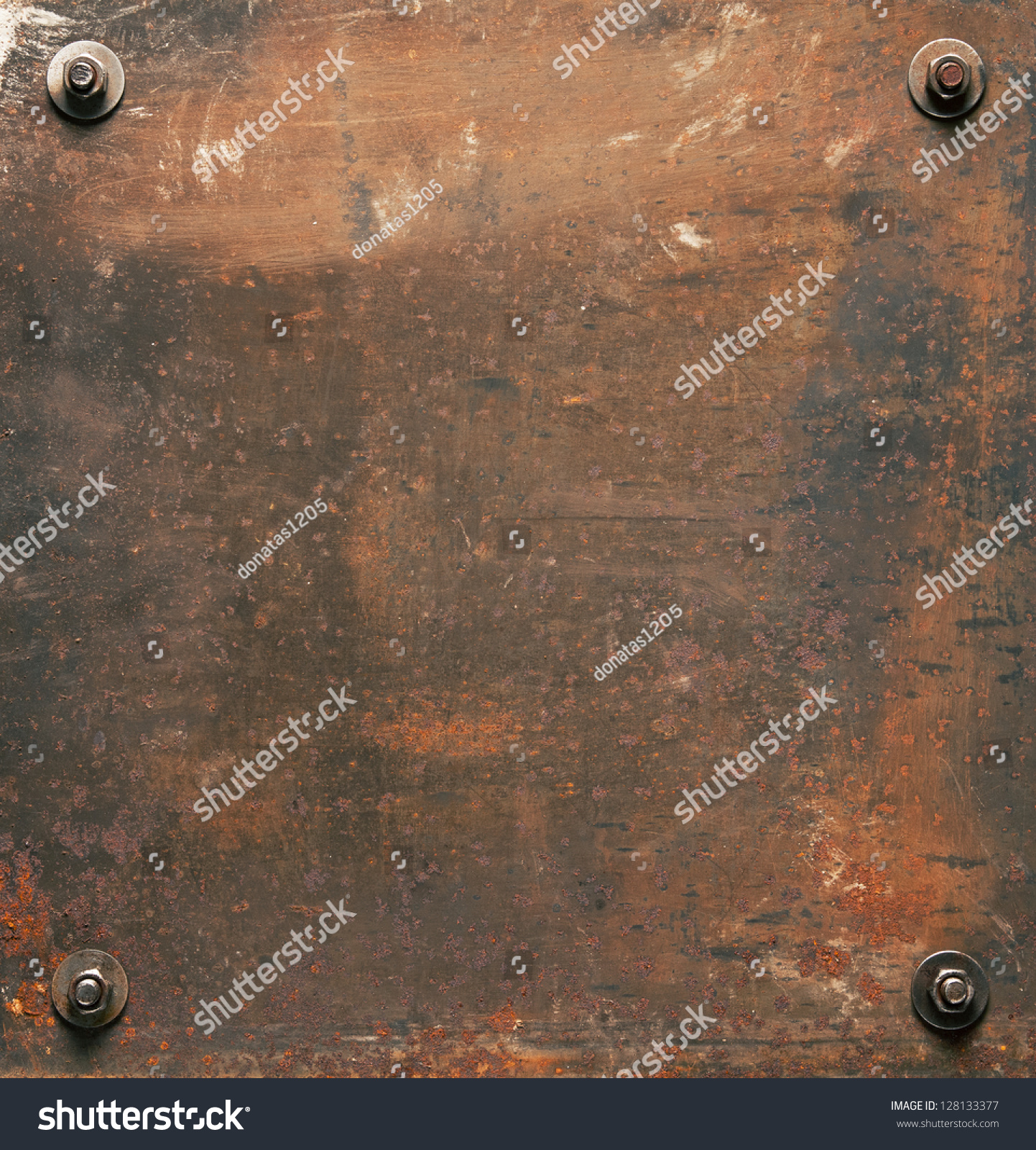 Rusted Metal Plates Texture Rusty Metal Plate Text...