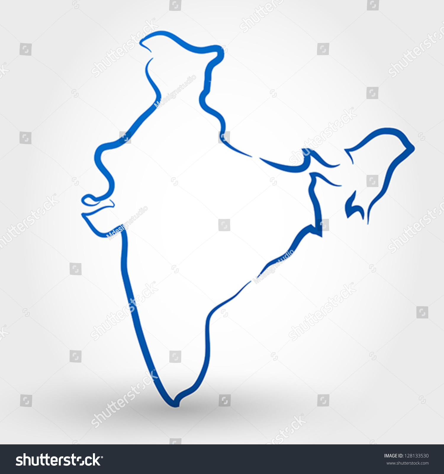 Map India Map Concept Stock Vector Shutterstock - India map vector