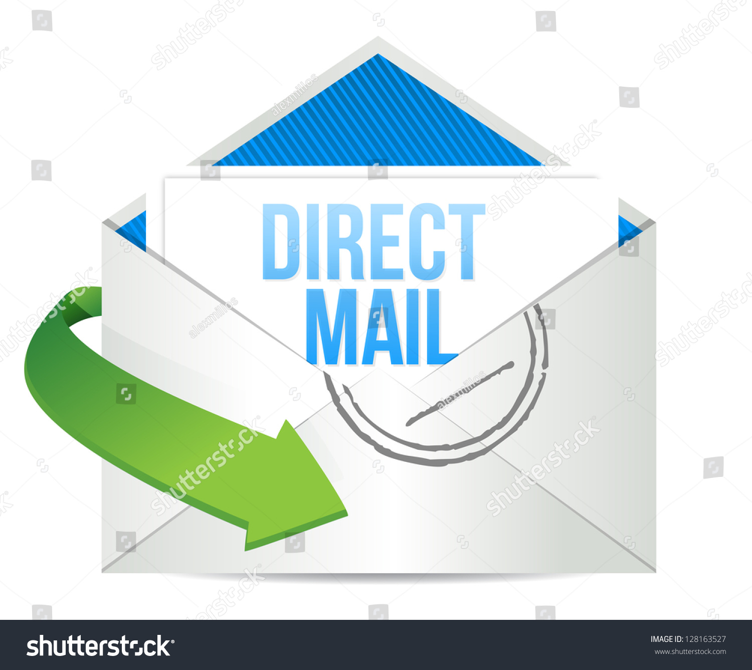 advertising direct mail working concept illustrationのイラスト素材
