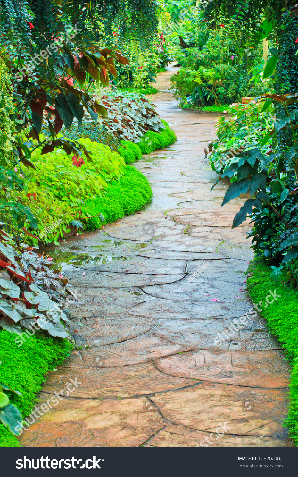 garden path in flower garden - Flower Garden Path